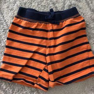 Navy and Orange striped Boys shorts